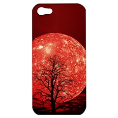 The Background Red Moon Wallpaper Apple Iphone 5 Hardshell Case