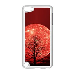 The Background Red Moon Wallpaper Apple Ipod Touch 5 Case (white)