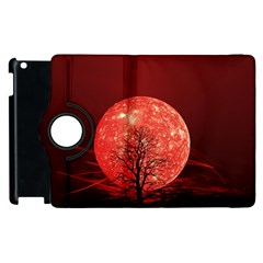 The Background Red Moon Wallpaper Apple Ipad 3/4 Flip 360 Case