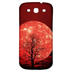 The Background Red Moon Wallpaper Samsung Galaxy S3 S Iii Classic Hardshell Back Case