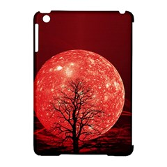 The Background Red Moon Wallpaper Apple Ipad Mini Hardshell Case (compatible With Smart Cover)