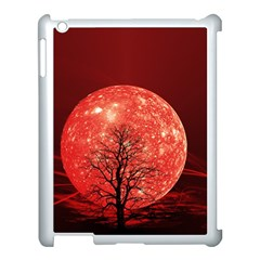 The Background Red Moon Wallpaper Apple Ipad 3/4 Case (white)