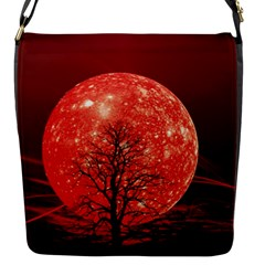 The Background Red Moon Wallpaper Flap Messenger Bag (s)