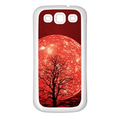 The Background Red Moon Wallpaper Samsung Galaxy S3 Back Case (white)