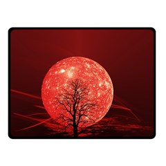 The Background Red Moon Wallpaper Double Sided Fleece Blanket (small)