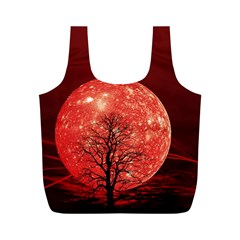 The Background Red Moon Wallpaper Full Print Recycle Bags (m)