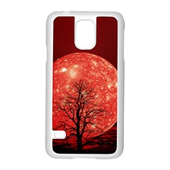 The Background Red Moon Wallpaper Samsung Galaxy S5 Case (white)
