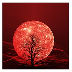The Background Red Moon Wallpaper Large Satin Scarf (square)