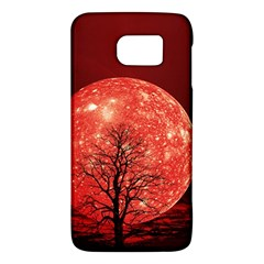 The Background Red Moon Wallpaper Galaxy S6