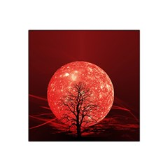 The Background Red Moon Wallpaper Satin Bandana Scarf