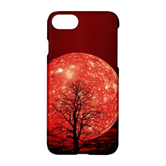 The Background Red Moon Wallpaper Apple Iphone 8 Hardshell Case