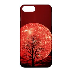 The Background Red Moon Wallpaper Apple Iphone 8 Plus Hardshell Case
