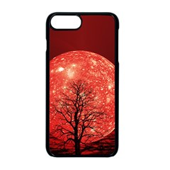The Background Red Moon Wallpaper Apple Iphone 8 Plus Seamless Case (black)