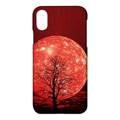The Background Red Moon Wallpaper Apple Iphone X Hardshell Case