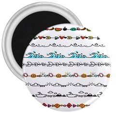 Decoration Element Style Pattern 3  Magnets