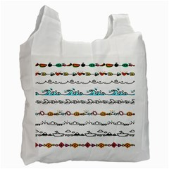 Decoration Element Style Pattern Recycle Bag (two Side)