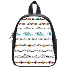 Decoration Element Style Pattern School Bag (small)