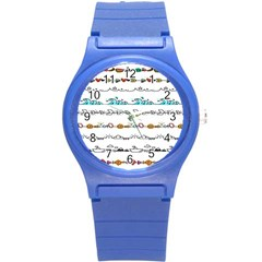 Decoration Element Style Pattern Round Plastic Sport Watch (s)