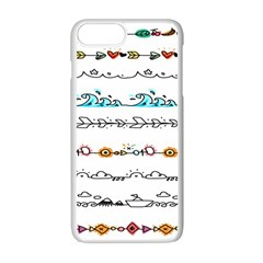 Decoration Element Style Pattern Apple Iphone 7 Plus Seamless Case (white)