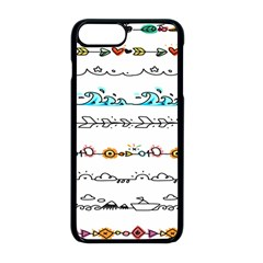 Decoration Element Style Pattern Apple Iphone 8 Plus Seamless Case (black)