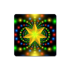 Christmas Star Fractal Symmetry Square Magnet