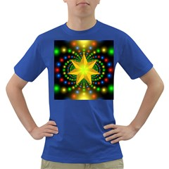 Christmas Star Fractal Symmetry Dark T Shirt