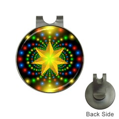 Christmas Star Fractal Symmetry Hat Clips With Golf Markers