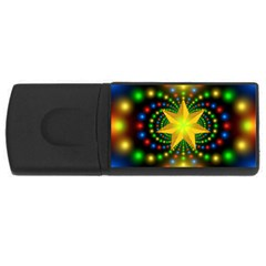 Christmas Star Fractal Symmetry Rectangular Usb Flash Drive
