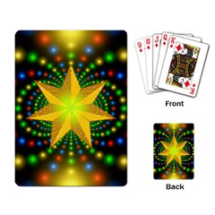 Christmas Star Fractal Symmetry Playing Card