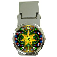 Christmas Star Fractal Symmetry Money Clip Watches