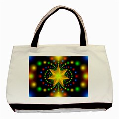 Christmas Star Fractal Symmetry Basic Tote Bag