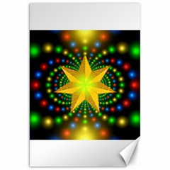 Christmas Star Fractal Symmetry Canvas 20  X 30