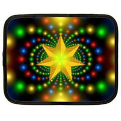 Christmas Star Fractal Symmetry Netbook Case (xl)