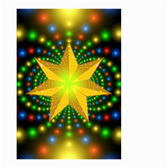 Christmas Star Fractal Symmetry Small Garden Flag (two Sides)