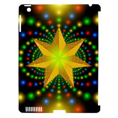 Christmas Star Fractal Symmetry Apple Ipad 3/4 Hardshell Case (compatible With Smart Cover)
