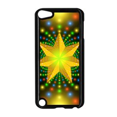 Christmas Star Fractal Symmetry Apple Ipod Touch 5 Case (black)