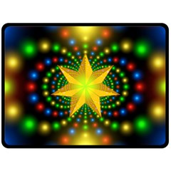 Christmas Star Fractal Symmetry Double Sided Fleece Blanket (large)