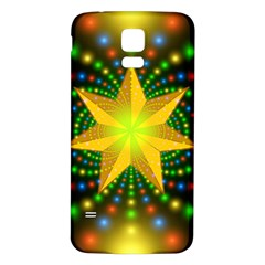 Christmas Star Fractal Symmetry Samsung Galaxy S5 Back Case (white)
