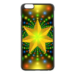 Christmas Star Fractal Symmetry Apple Iphone 6 Plus/6s Plus Black Enamel Case