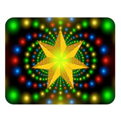 Christmas Star Fractal Symmetry Double Sided Flano Blanket (large)