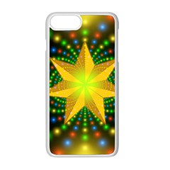 Christmas Star Fractal Symmetry Apple Iphone 8 Plus Seamless Case (white)