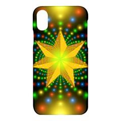 Christmas Star Fractal Symmetry Apple Iphone X Hardshell Case