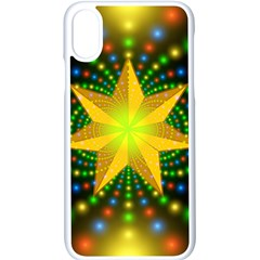 Christmas Star Fractal Symmetry Apple Iphone X Seamless Case (white)