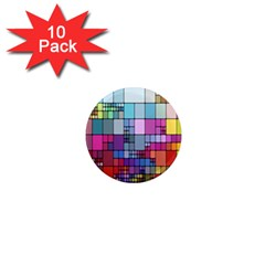 Color Abstract Visualization 1  Mini Magnet (10 Pack)