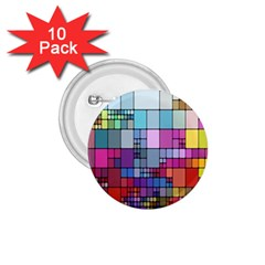 Color Abstract Visualization 1 75  Buttons (10 Pack)