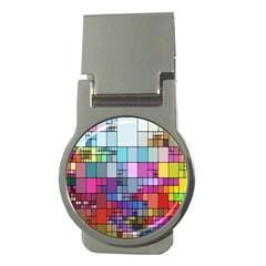 Color Abstract Visualization Money Clips (round)