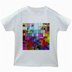 Color Abstract Visualization Kids White T Shirts