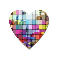 Color Abstract Visualization Heart Magnet