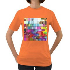 Color Abstract Visualization Women s Dark T Shirt