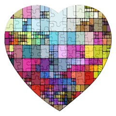 Color Abstract Visualization Jigsaw Puzzle (heart)
